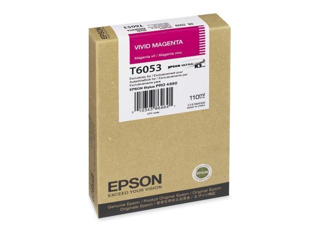 EPSON T605300 110 ml UltraChrome Ink Cartridge Vivid Magenta