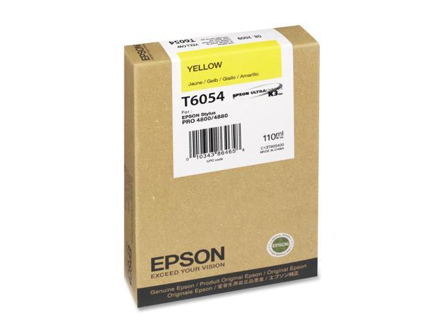 EPSON T605400 110 ml UltraChrome Ink Cartridge Yellow