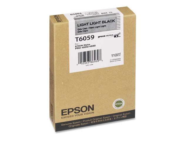EPSON T605900 110 ml UltraChrome K3 Ink Cartridge Light Light Black