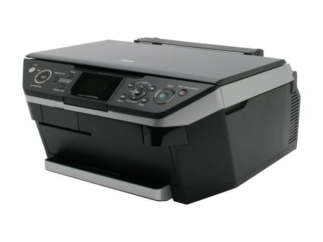 EPSON Stylus Photo RX680 C11C686201 Up to 40 ppm Black Print Speed 5760 x 1440 dpi Color Print Quality Wireless InkJet MFC / All-In-One Color Printer