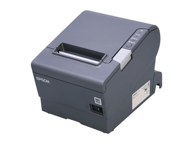 Epson C31CA85834 TM-T88V POS Thermal Receipt Printer - Gray, Parallel w/annunciator , External Power Supply (PS-180)