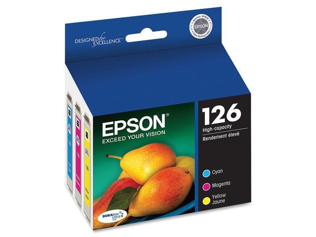 EPSON T126520-S DURABrite 126 High Capacity Ink Cartridge Cyan / Magenta / Yellow