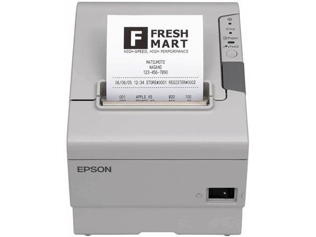 Epson C31CA85814 TM-T88V POS Thermal Receipt Printer - White, Parallel w/annunciator, External Power Supply (PS-180)