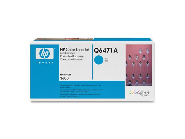 HP Q6471A Print Cartridge with ColorSphere Toner Cyan