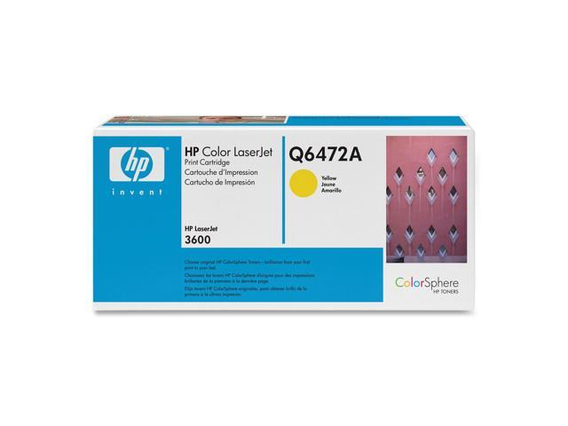 HP Q6472A Print Cartridge with ColorSphere Toner Yellow