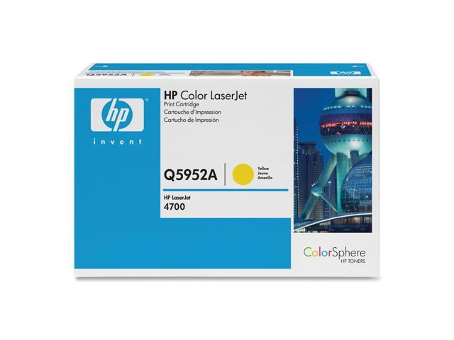 HP Q5952A Print Cartridge for LaserJet 4700 Series Yellow