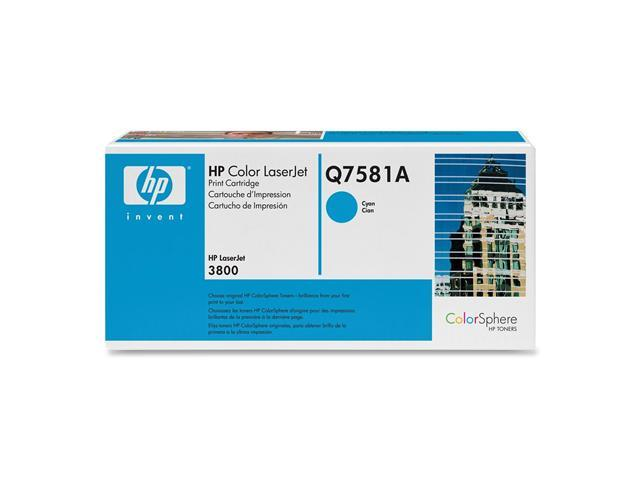 HP Q7581A Print Cartridge for Color LaserJet 3800 Series Cyan