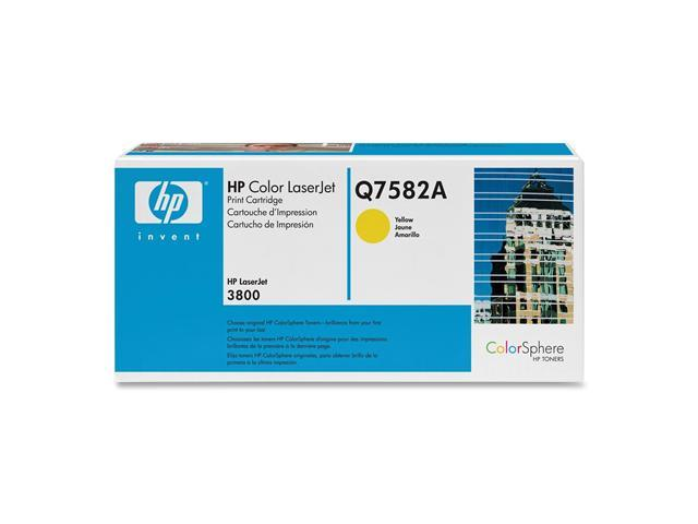 HP Q7582A Print Cartridge for Color LaserJet 3800 Series Yellow