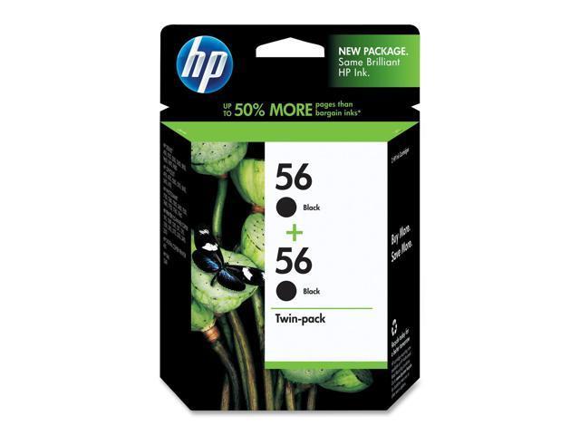 HP 56 Black Ink Cartridge Twin Pack (C9319FN#140)