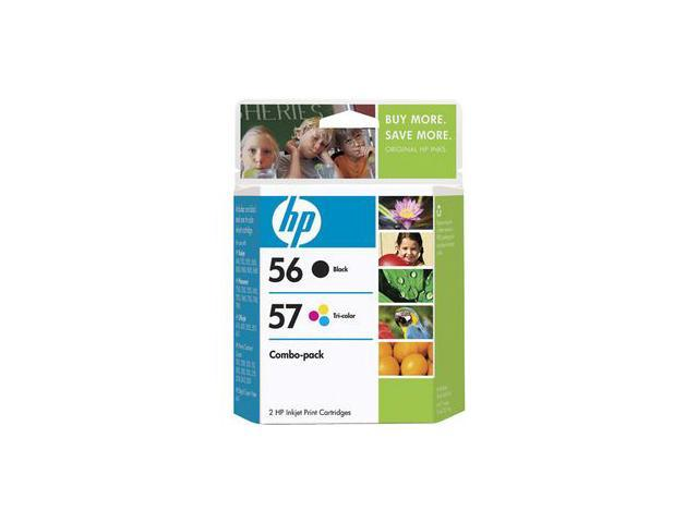 HP 56/57 Black/Color Inkjet Print Cartridge Combo Pack (C9321FN#140)