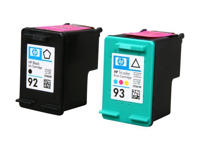 HP 92/93 Black/Tri-color Inkjet Print Cartridges Combo Pack (C9513FN#140)