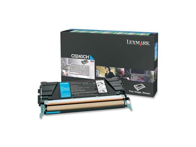 LEXMARK C5240CH High Yield Return Program Toner Cartridge Cyan