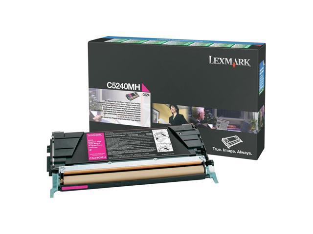 LEXMARK C5240MH High Yield Return Program Toner Cartridge Magenta