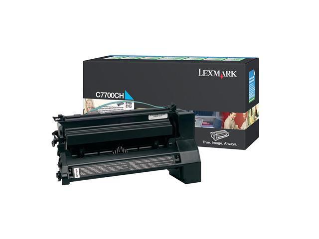 LEXMARK C7700CH High Yield Return Program Print Cartridge Cyan