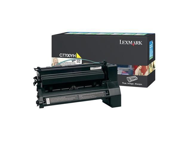 LEXMARK C7700YH High Yield Return Program Print Cartridge Yellow