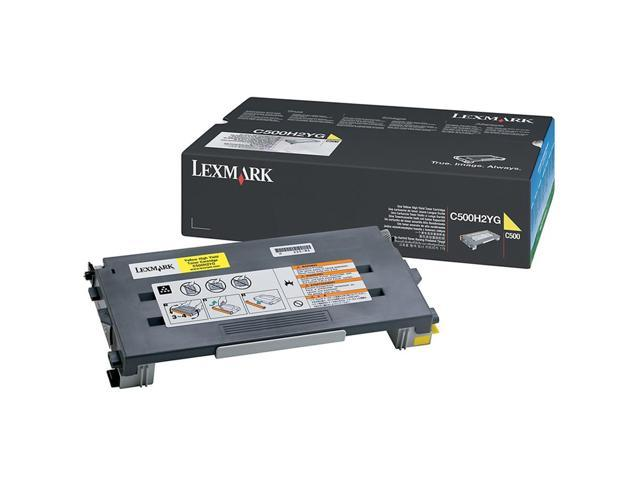LEXMARK C500H2YG High Yield Cartridge For C500, X500, X502 Yellow