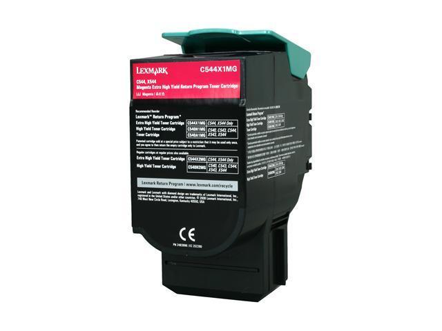 LEXMARK C544X1MG C544, X544 Extra High Yield Return Program Toner Cartridge Magenta