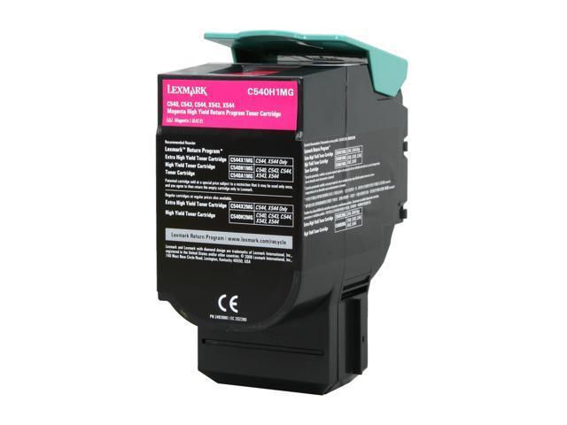 LEXMARK C540H1MG C540, C543, C544, X543, X544 High Yield Return Program Toner Cartridge Magenta