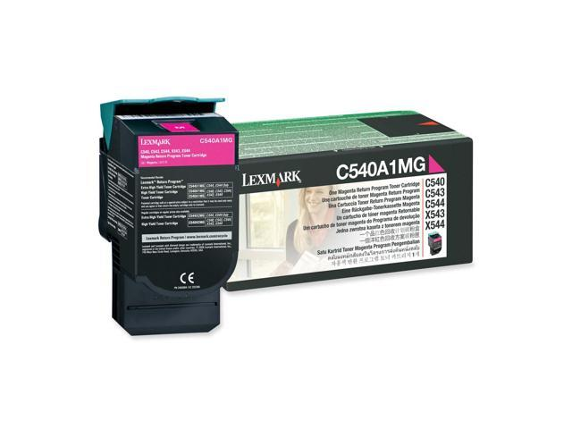 LEXMARK C540A1MG C540, C543, C544, X543, X544 Return Program Toner Cartridge Magenta