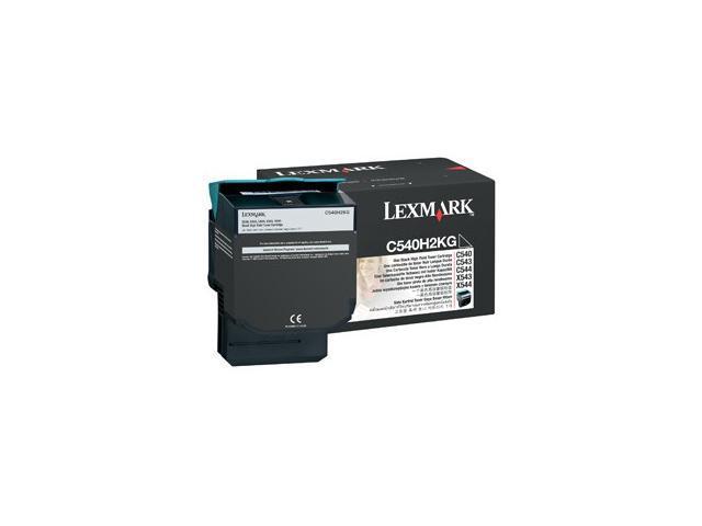 LEXMARK C540H2KG C540, C543, C544, X543, X544 High Yield Toner Cartridge Black