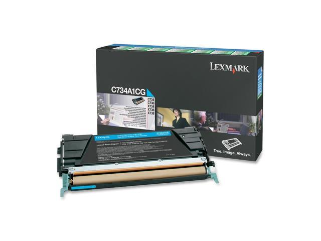 LEXMARK C734A1CG Return Program Toner Cartridge Cyan
