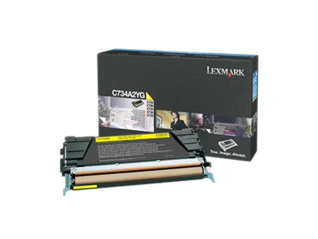 LEXMARK C734A2YG Toner Cartridge Yellow