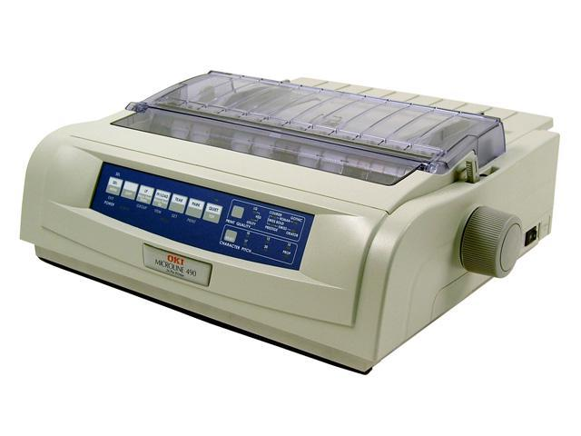 OKIDATA MICROLINE 490 (62418901) - Parallel, USB 24 pin 120V Up to 475cps 360 x 360 Dot Matrix Printer