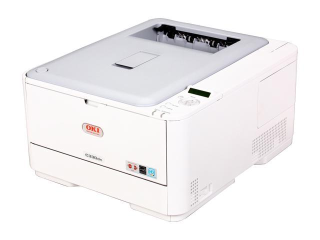OKIDATA C330dn Workgroup Up to 25 ppm Color LED Network Printer (62435103)