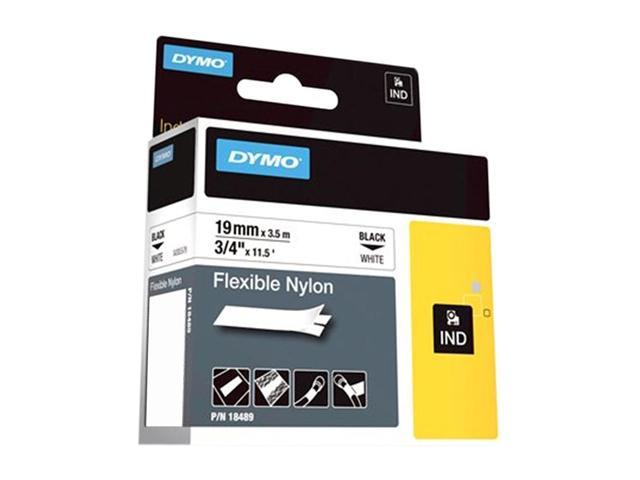 DYMO 18489 White Flexible Nylon Tape 3/4