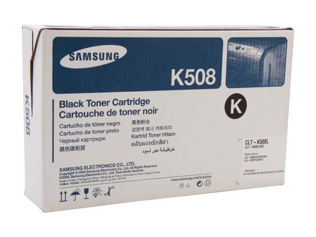 SAMSUNG CLT-K508L, K508 High Yield Toner Cartridge Black