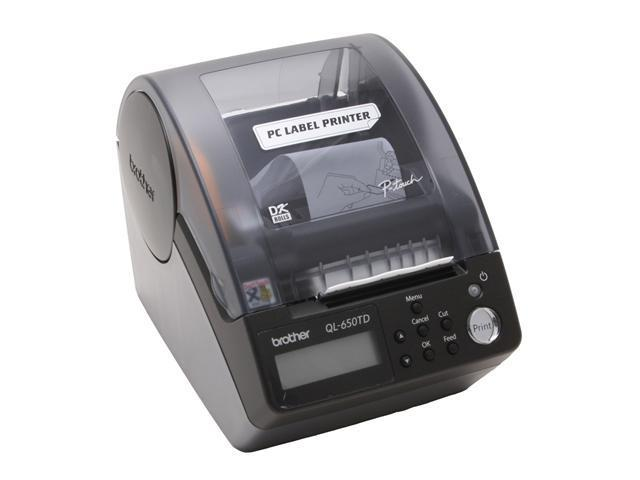 brother QL-650TD Label Printer with Built-in Time and Date Function, 56 labels / min. 300 dpi
