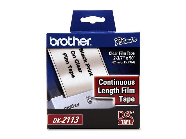brother DK2113 Black/Clear Continuous Length Film Label