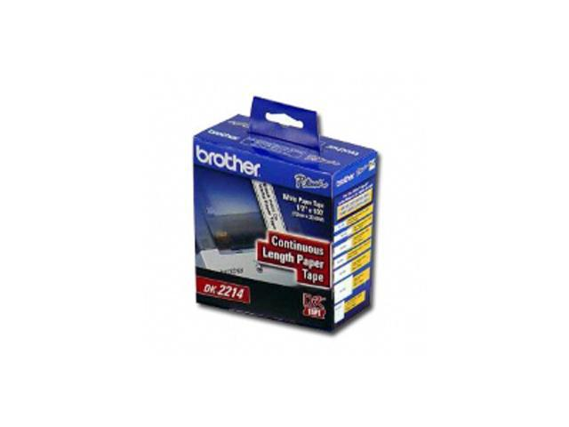 brother DK2214 Black/White Continuous Length Paper Tape