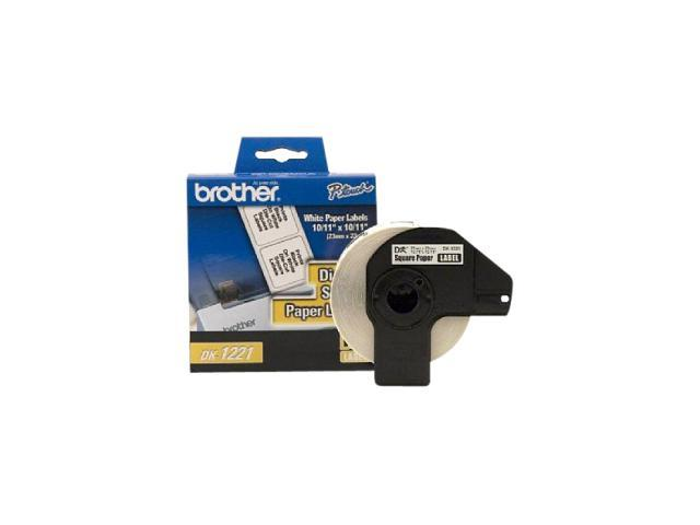 Brother DK1221 0.9 in square (23 mm square) Square White Paper Labels (1,000 Labels)