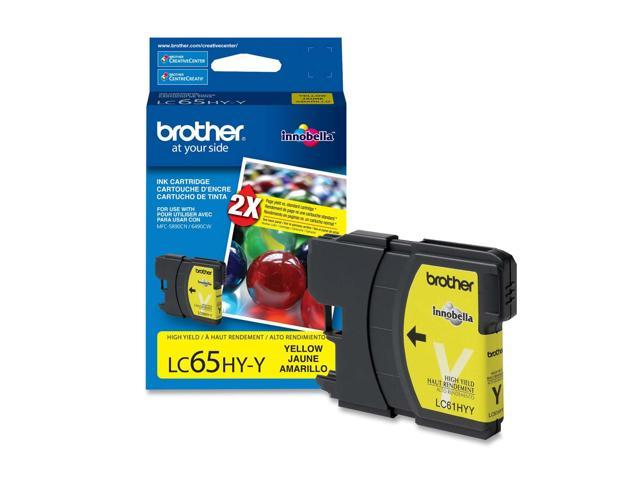 brother LC65HYYS High Yield Ink Cartridge For MFC-6490CW Yellow