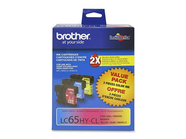 brother LC653PKS High Yield Ink Cartridge For MFC-6490CW Printer Cyan/Magenta/Yellow