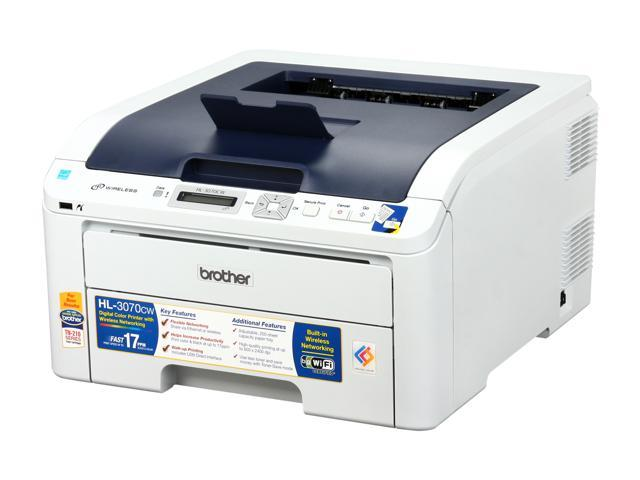 brother hl 3070cw digital color led printer with wireless networking. Black Bedroom Furniture Sets. Home Design Ideas