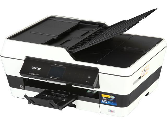 Brother Business Smart Pro MFC-J6520dw Up to 35ppm (Fast Mode) Up to 22ppm (ISO/IEC 24734) Black Print Speed 6000 x 1200 dpi Color Print Quality InkJet Workgroup Color Printer w/ 2.7