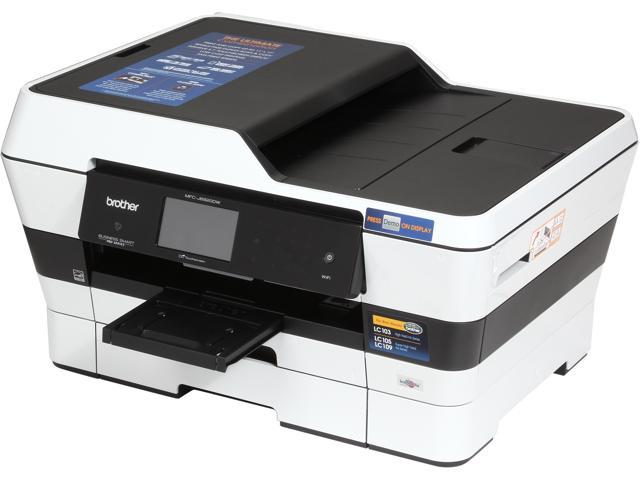 Brother Business Smart Pro MFC-J6920dw Up to 35ppm (Fast Mode) Up to 22ppm (ISO/IEC 24734) Black Print Speed 6000 x 1200 dpi Color Print Quality InkJet Workgroup Color Printer w/ 3.7