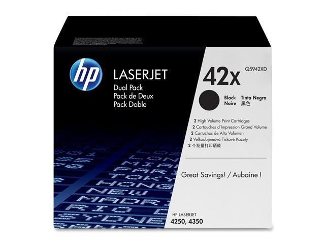 HP Q5942XD LaserJet Dual Pack Print Cartridges with Smart Printing Technology Black