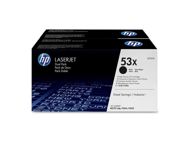HP 53X Black High Yield 2-pack LaserJet Toner Cartridge (Q7553XD)