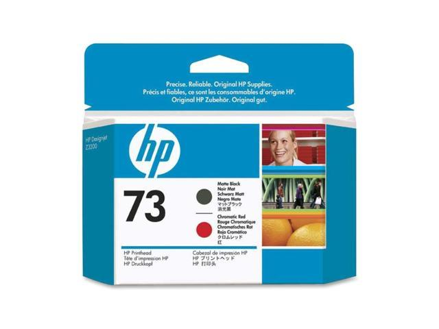 HP CD949A 73 Printhead Matte Black and Chromatic Red
