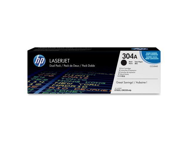 HP 304A Black Dual Pack LaserJet Toner Cartridges (CC530AD)