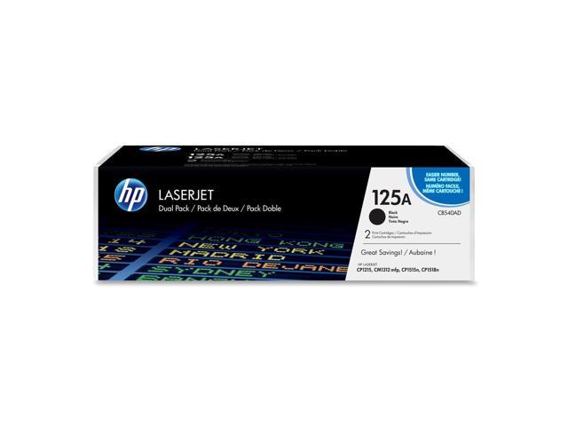 HP CB540AD Color LaserJet CB540A Dual Pack Print Cartridges Black