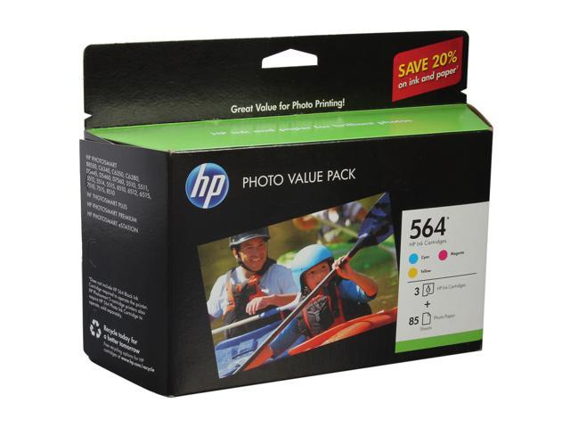 HP 564 Series Tri-color Ink Cartridge with 85 sheet Photo Value Pack (CG925AN#140)