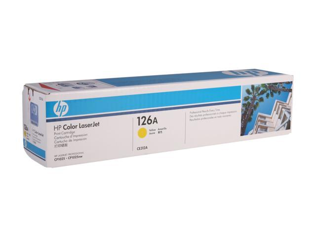 HP 126A Yellow Color LaserJet Toner Cartridge (CE312A)