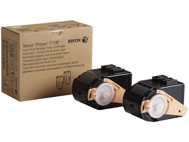 XEROX 106R02602 Dual Package Toner for Phaser 7100 Cyan