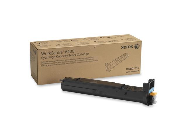 XEROX 106R01317 High Capacity Toner Cartridge Cyan For WorkCentre 6400
