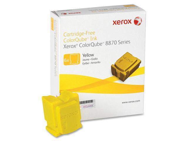 XEROX 108R00952 Genuine Solid Ink Yellow for ColorQube 8870 (6 sticks) Yellow