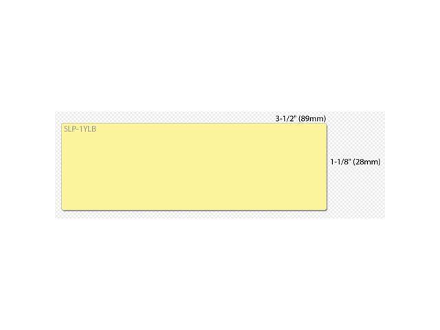 "Seiko SmartLabel SLP-1YLB Mailing Label - 1.12"" Width x 3.5"" Length - 130/Roll - 0.79"" Core - 1 Roll - Yellow"